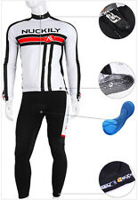 Men's Long Sleeve Bicycle Bike Cycling Wear Jersey Jacket Pants Clothing Sets