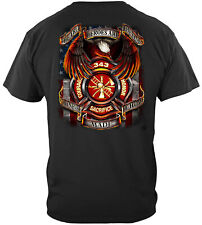 Erazor Bits T-Shirt - Fire Fighter - True Heroes FireFighter - Black