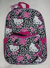 NEW SANRIO HELLO KITTY SCHOOL BACKPACK KIT ATTACHED INSULATED LUNCH BOX / BAG