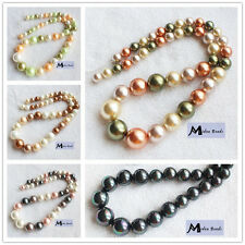 8-16mm Beautiful Shell Pearl Gradually Round Loose Beads 18""