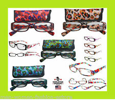 Brand New Women's Ladies Reading Readers Glasses Burnout Tie Dye Style Fashion