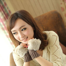 Lovely Warm Women's Lady's Imitation Rabbit Fur Winter Warmer Fingerless Gloves