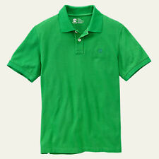 Timberland Men's Short Sleeve Millers River Pique Green Polo Shirt Style #8743J