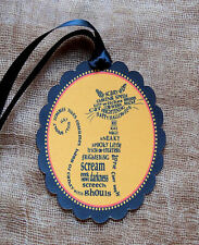 Hang Tags  BLACK CAT WORD ART HALLOWEEN TAGS #95 Gift Tags