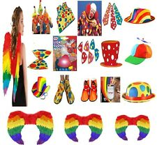 New Circus Clown Fancy Dress Costume Accessories Tie Bow Tie Shoes Wig Waistcoat