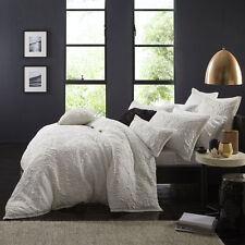 Ultima Logan and Mason DELANEY WHITE Duvet Doona Quilt Cover Set Queen King Size