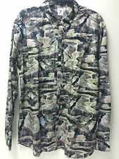 Marc Ecko Cut & Sew Mens Long-Sleeve Camo Woven Shirt Size L  XL  2XL NWT
