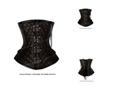 16 Full Steel Boned Heavy Lacing Faux Leather Underbust Shaper Corset #8492(FL)