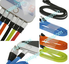 For Apple iPhone 5/6 Flat Noodle USB Sync Data Charging Charger Cable Cord 1M PA