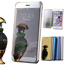 Clear View Mirror Thin Hard PC Flip Leather Case Cover Skin For iPhone 6 Plus
