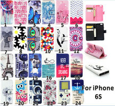 New Pattern Wallet Stand Flip Slim Magnetic Leather Case Cover For iPhone 6S