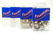 Essentials Metal and Plastic Sewing Machine Bobbins - 15k and 66k Types - 8 Pack