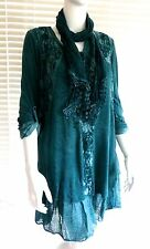 Gorgeous Italian lagenlook knit and lace tunic dress set - Mona