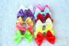 Pet Dog Hair Clips Large Size Bows Solid  Bowknot Dog Hair Bows Topknot Grooming