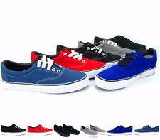 Men's Classic Canvas Vulcanized Shoes Skate Casual Athletic Lace-up Low