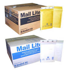 MAIL LITE PADDED ENVELOPES - BUBBLE BAGS - J/6 - WHITE & GOLD- ALL QUANTITY