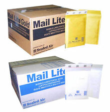 MAIL LITE PADDED ENVELOPES - PADDED BAGS - B/00 - WHITE & GOLD - ALL QTY