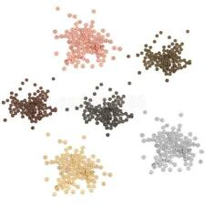 100pcs Snowflake Flower Spacer Beads Charms 4mm DIY Silver, Gold, Copper, Bronze