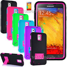 Hybrid Rugged Rubber Matte Hard Case Cover Skin for Samsung Galaxy Note 2 3 4