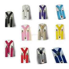 Children Kids Boys Girl Toddler Clip-on Suspenders Elastic Adjustable Braces U20