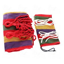 Hammock Portable Cotton Rope Outdoor Swing Fabric Camping Hanging Canvas Bed