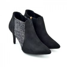 Ladies Mid High Heel Womens new fashion ankle boots decorative zip casual shoes
