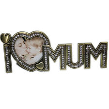 I Love Mum Dad Photo Picture Frame with Crystals Mothers Fathers Day Xmas Gift