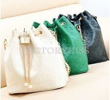 Hobo Shoulder Bag High PU Leather Chain Satchel Cross Body Tote Handbag SUS