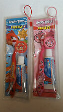 Angry Birds Dental Travel Kit 3 pc Toothbrush Brush Cover & Kids Crest zip bag