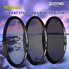ZOMEi Neutral Density ND2 ND4 ND8 ND Filter Kits Set 52,58,67,77,82mm for Canon