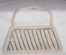 Vintage White Pearl Evening Purse