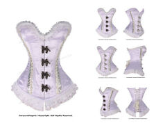 Heavy Duty 22 Double Steel Boned Waist Training Satin Overbust  Corset #8486-SA