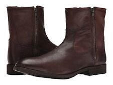 NIB Frye Men's Ethan Double Zip Boot in Dark Brown Style# 88114