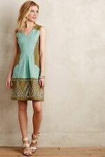 NEW Anthropologie Embroidered Gingham Garden Party Dress by HD in Paris Size 10