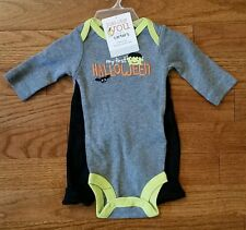 Carters Halloween Outfit Bodysuit Pants Frankenstein NWT NB and 6 months