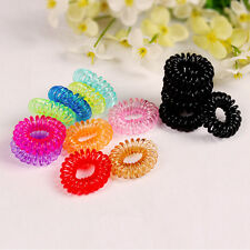 HOT 10pcs Hair Ring Rope Ponytail Holder Elastic Candy Telephone Line Hair Band
