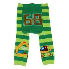 Cute Baby Infant Toddler Tights Leggings Socks Pants - Green Striped Print S M