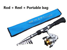 travel carbon sea beach telescopic fishing rod CW:30-80g with C150 Fishing reel