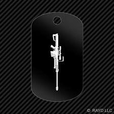 Barrett 50 Cal M82A1 Keychain GI dog tag engraved many colors sniper rifle