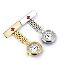 Fashion Round dial Red Cross Nurse Watches Brooch Pendant Quartz Pocket Watch