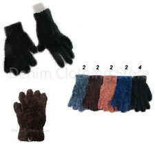 WHOLESALE LOTS FUZZY FURRY SOFT MAGIC WINTER SOLID GLOVES WARM KNITTED XMAS GIFT