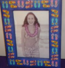 """BEACH SANDALS Photo Picture Frame NEW! 5"""" x 7"""" photo"""