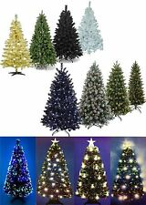 6ft/180CM Christmas Tree in Black Green Gold Fibre Optic Pine Cone Tips Pre-Lit