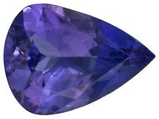 Rare Tanzanite, pear shape natural dark blue-purple color, 7x5mm loose gemstones