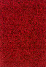 RED Plain Easycare Affordable QUALITY Shaggy Rug Hallway Runner XS- Large 30%OFF