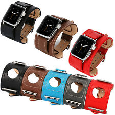 Genuine Leather Strap Cuff Bracelet Watch Bands For Apple Watch Series 2 38/42MM