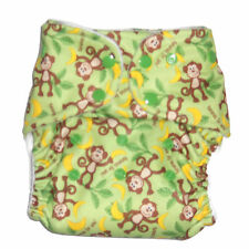 Cloth diaper Pocket  with 1 pc Insert- Monkey Pattern