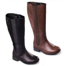 MYRA PADDERS LADIES LEATHER ROUND TOE KNEE HIGH CASUAL FLAT SMART LONG BOOTS