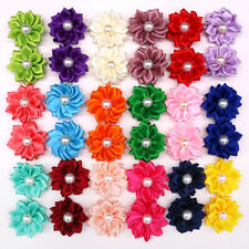 New Cute Pet Dog Hair Bows Rubber Bands FlowersPearls Pet Grooming bows Topknot