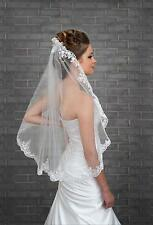 2016 New 1T Elbow Wedding Veil Bridal Veil White Ivory with Comb